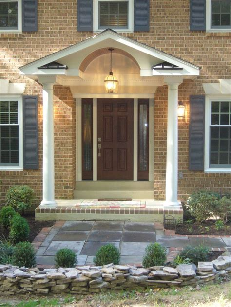 house front portico design small front porch ideas front house decorating homescorner com