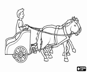 horse and chariot coloring page sketch coloring page