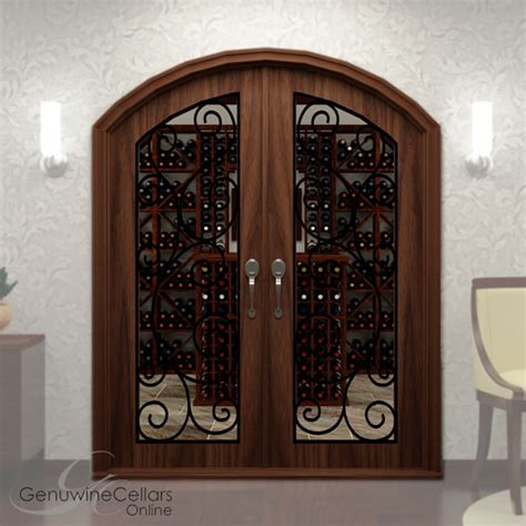 Full Glass Double Arched Wine Cellar Doors W Ironwork Arch Glass Door