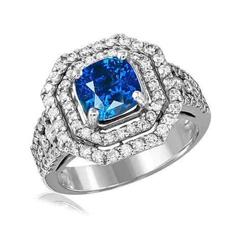 Blue Sapphire 2 86ct 2 86ct blue sapphire 1 00ctw dias 14ktw ring bgr1020
