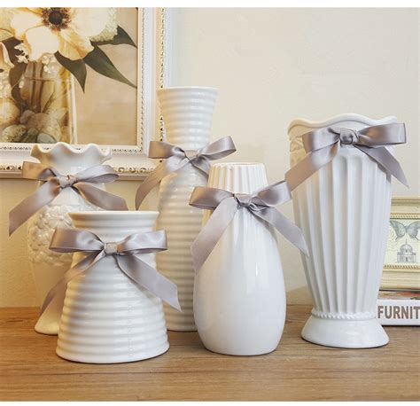 Big Vases For Decoration Modern Fashion White Ceramic Flower Vase Home Decoration