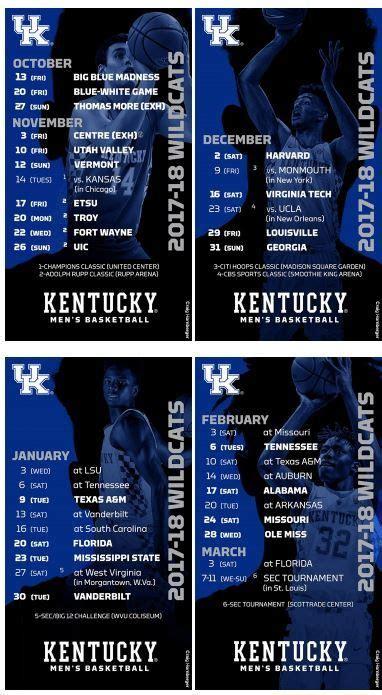 uk basketball schedule on tv best 25 kentucky basketball schedule ideas on pinterest