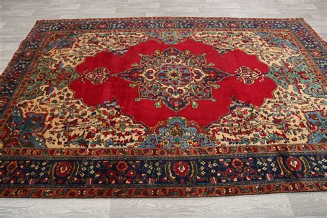10 x 10 area rug cheap clearance sale 7x10 tabriz area rug wool carpet 10 2 quot x 6 8 quot ebay