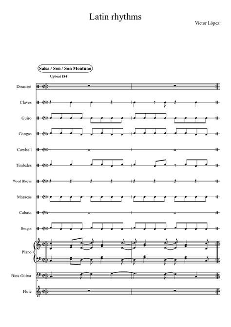samba drum pattern midi latin rhythms sheet music musescore