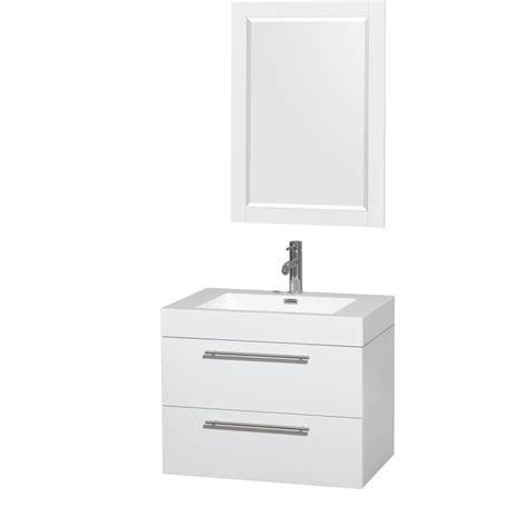 30 inch bathroom sink amare 30 inch single bathroom vanity in glossy white