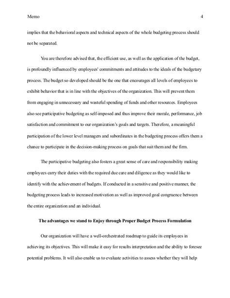 Memo Essay by Memo Essay Exle
