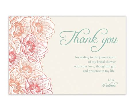 thank you letter to for bridal shower how to create bridal shower thank you cards ideas anouk