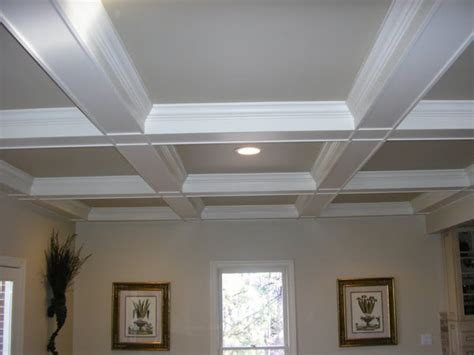 coffered ceilings our humble abode basement progress update