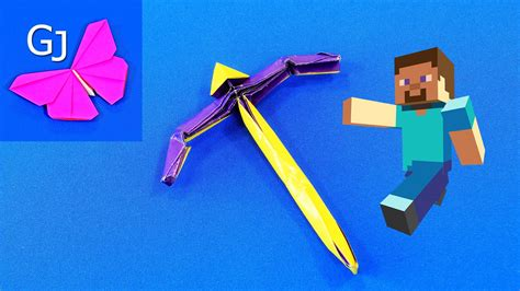 Origami Minecraft Pickaxe - origami minecraft pickaxe 28 images how to make a
