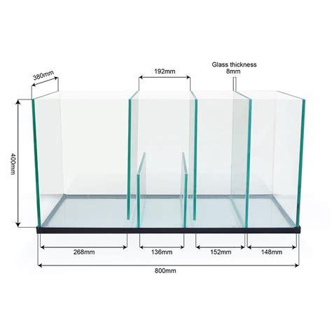 membuat sump filter aquarium aquarium marine fish tank glass sump 80 x 38 x 40cm fits