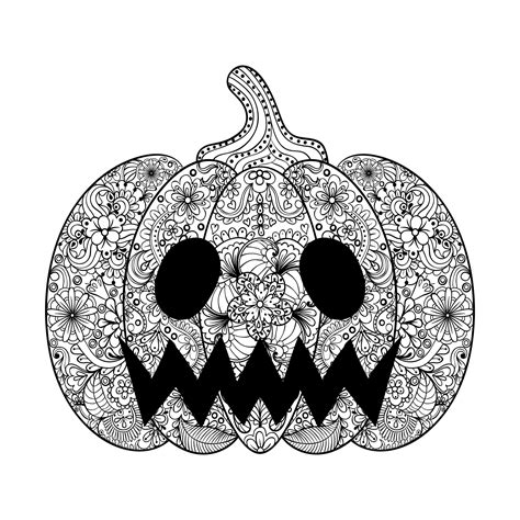 pumpkin coloring pages for adults halloween scary pumpkin by ipanki halloween coloring
