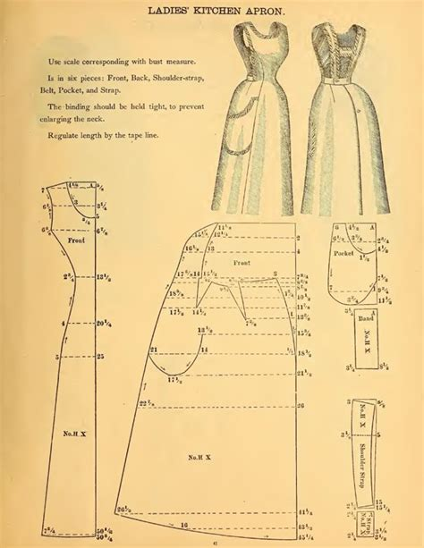 sewing pattern for victorian apron victorian apron pattern costumes pinterest
