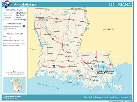 louisiana map geography united states geography for louisiana