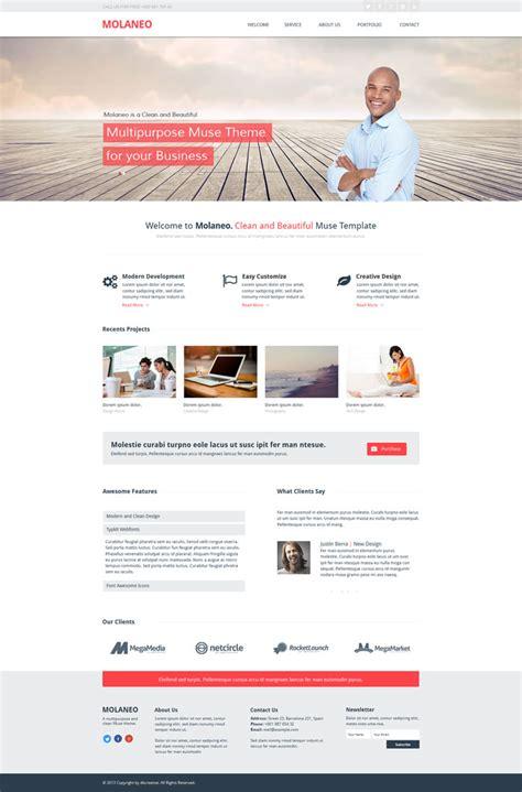 blog theme muse 15 peerless muse corporate website templates