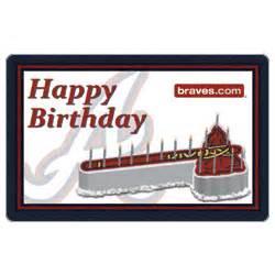 25 mlb atlanta braves happy birthday gift card findgift
