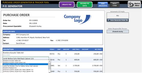 excel purchase order tracking template excel purchase order tracking template images template