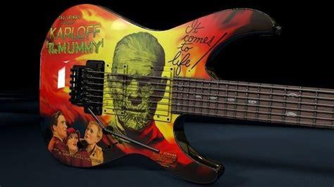 kirk hammett mummy guitar decal kirk hammett esp kh 3 karloff mummy guitar 3d model obj
