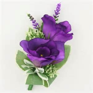 purple corsage purple lisianthus corsage