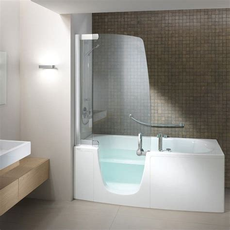 shower bath combo bathtubs and showers teuco 385 fy o c disabled walk in modern bath and shower combo