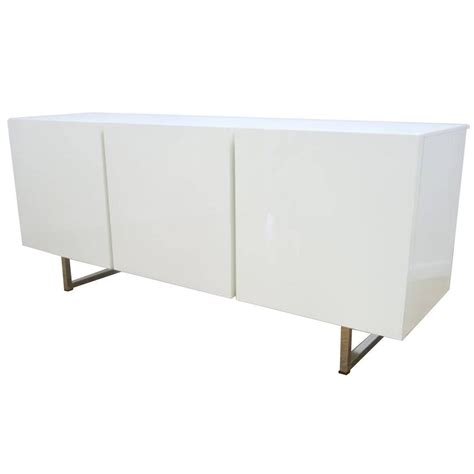 modern credenza modern white lacquered credenza buffet dresser by