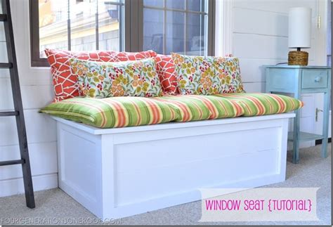 making a window seat bench under window bench seat storage diy woodideas
