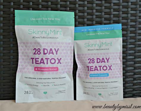 Skinnymint 28 Day Detox by Daretobegorgeous With Skinnymint Teatox Teas By