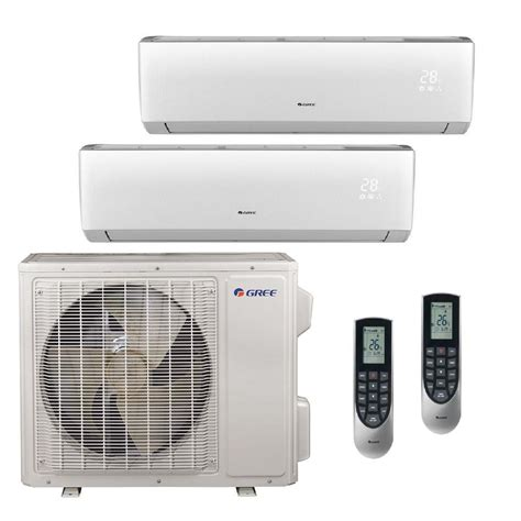 ductless mini split gree multi 21 zone 18 000 btu 1 5 ton ductless mini split