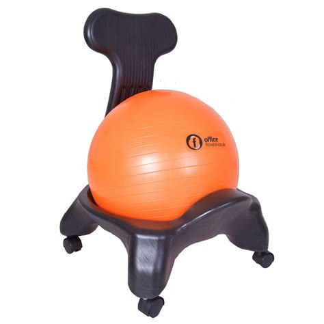 yoga ball desk chair office fitness ball chair with backrest 55cm ball