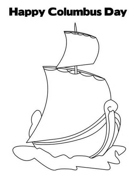 free coloring pages of columbus ship