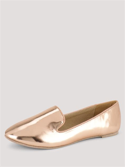 gold metallic flat shoes buy sole story metallic flat shoes for s
