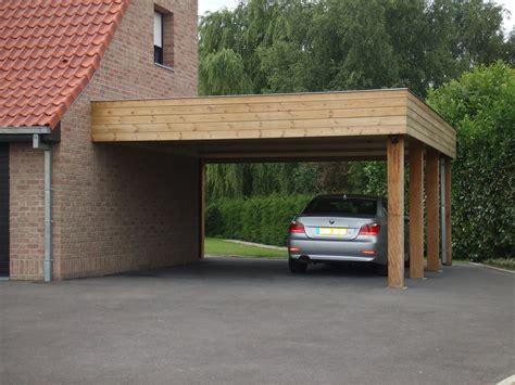 carport adoss 233 en bois pour abriter votre voiture