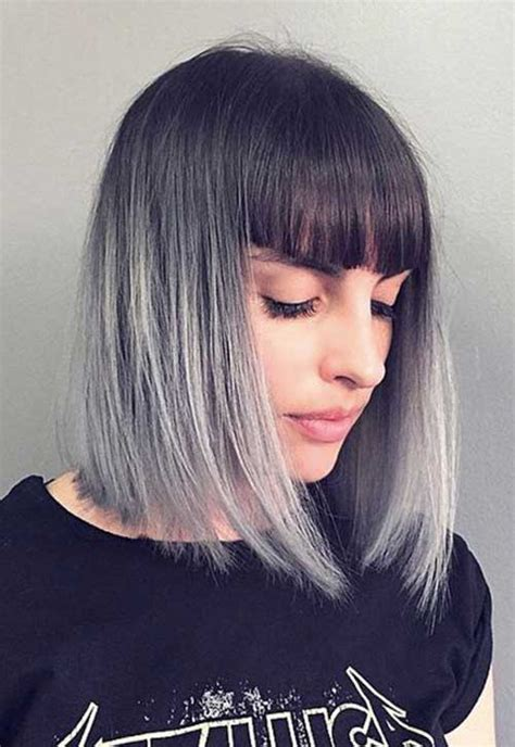 hairstyles with grey ombre short grey hair pics short hairstyles 2017 2018 most