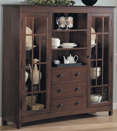 Curio Cabinet With Drawers by China Cabinets China Cabinet W 2 Glass Doors 4