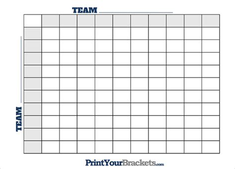 generous blank football squares template contemporary