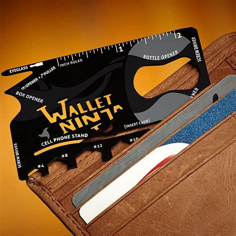 Wallet 18in1 Multi Purpose Credit Card Sized Pocket Tool Vante Wallet 18 In 1 Credit Card Size Pocket Tool