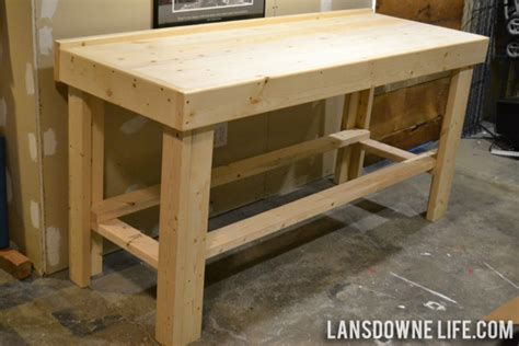 counter height bench plans a gift for me a new work table lansdowne life