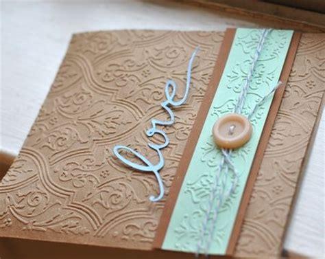 Handmade Folders - embossed handmade card using new embossing