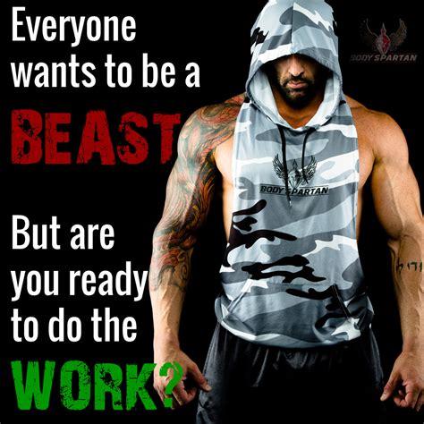 Sleeveless Hoodie Beast Mode motivational images spartan
