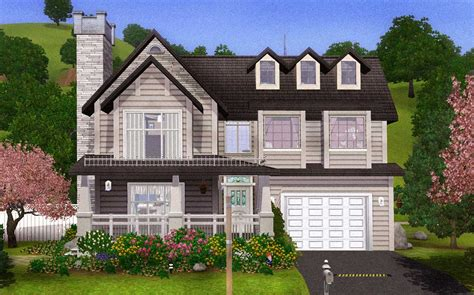 Attic Floor Plans by Mod The Sims Comfortable Charming Family Home With Basement
