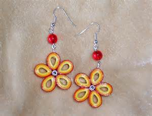 quilling earrings images quilling flowers earrings by ombryb on deviantart