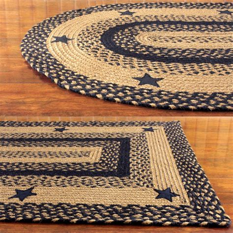 country decor rugs ihf home decor country style oval rectangle braided rug black design ebay