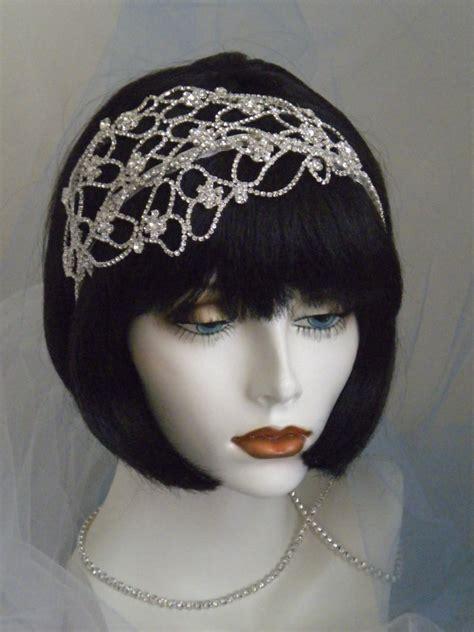 unique roaring 20s head pc 1920 s headpiece flapper headband gatsby silver