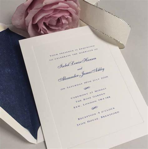 Invitation To Royal Wedding