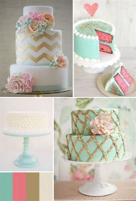 turquoise and pink wedding decorations turquoise pink gold cake inspiration mint and