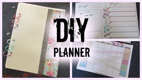 diy planner i how to make your own planner from scratch