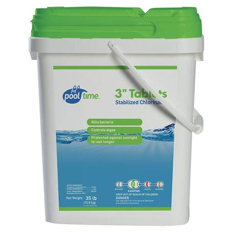 pool time 35 lb 3 in chlorinating tablets 21727ptm the