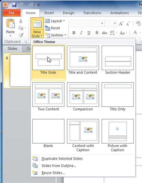 how to use powerpoint 2010 slide layouts powerpoint 2010 slide basics