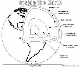 Layers Of The Earth Coloring Page earth printout coloring page enchantedlearning