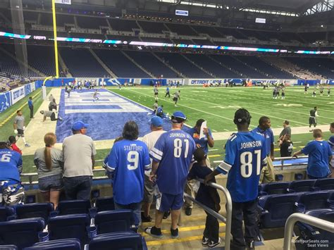 at section 101 ford field section 101 detroit lions rateyourseats com