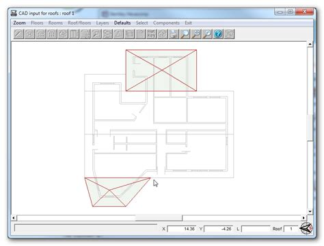 types of sectioning in drawing cad model design adding different roof section types